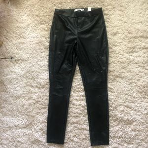 Faux leather leggings, M
